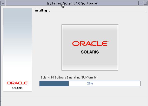 Installaing solaris progress bar