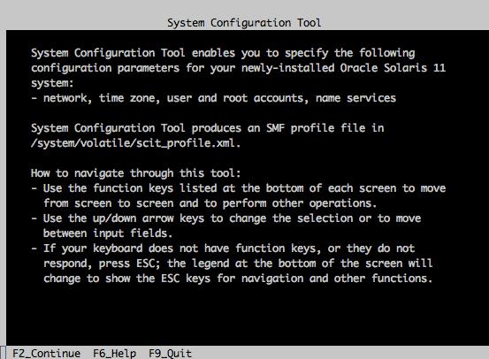System configuration tool solaris 11