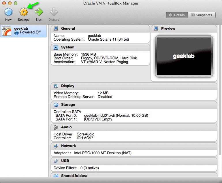Installing Oracle solaris 11 in Virtualbox – The Geek Diary