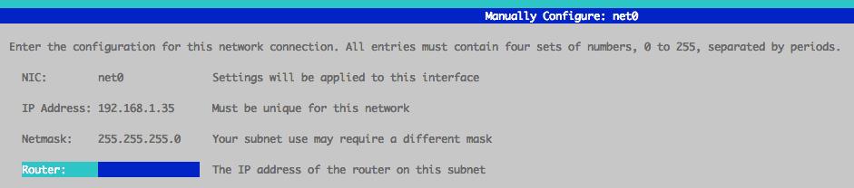 manual configuration net0