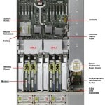 SPARC T4-2 top view with component details