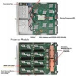 SPARC T5-8 top view with detailed component view