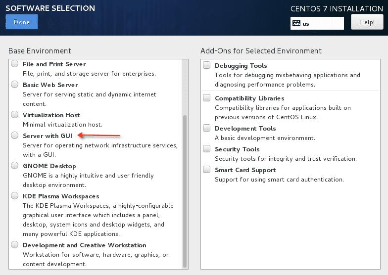 RHEL 7 server with GUI
