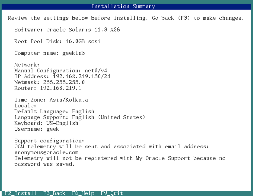 How to Install Oracle Solaris 11 (Text Installer) – The Geek