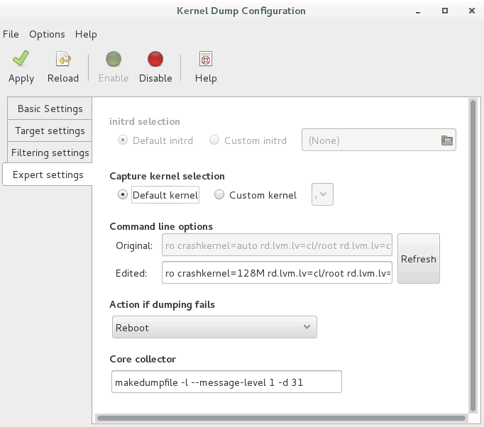 CentOS / RHEL 7 : How to configure kdump using GUI – The